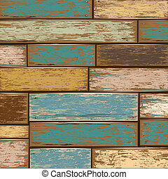 Old Wooden texture background vector illustration