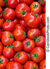 Pile of tomatoes - Pile of Tomatoes at the Farmers Market