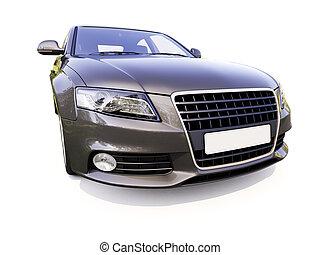 Modern luxury car on a light background
