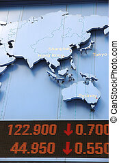 stock data with map