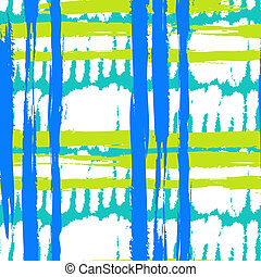 Pattern with wide brushstrokes and stripes - Vector seamless...