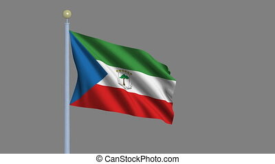 Flag of Equatorial Guinea with alpha matte - Flag of...