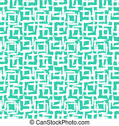 Geometric pattern with small hand painted squares - Vector...