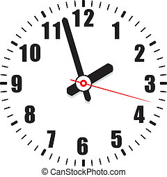 vector clock face - vector time background of a clock face