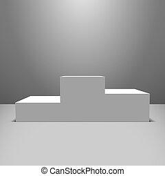 White pedestal - Lightened white vector pedestal on the...