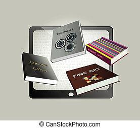Electronic, ebook concept design.
