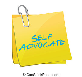 self advocate sign post illustration design over a white...