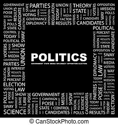 POLITICS Word cloud concept illustration Wordcloud collage...