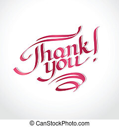 Thank you hand-drawn lettering. Eps 8 vector illustration