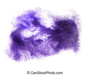 ink abstract stroke watercolor brush blue, purple water...