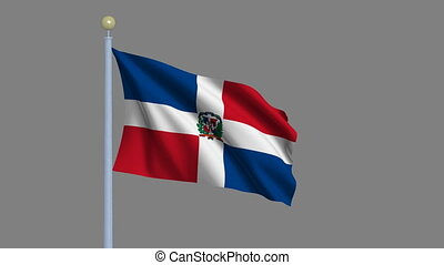 Flag of the Dominican Republic with alpha matte - Flag of...