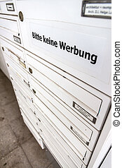 advertising in letterbox undesirable - in the mailboxes of...