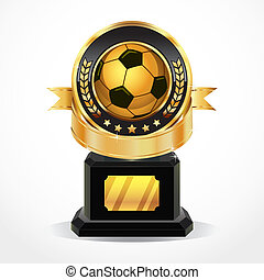 Soccer Golden Award Medals vector illustration
