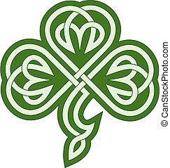 Celtic clover - Vector drawing of a celtic tribal clover
