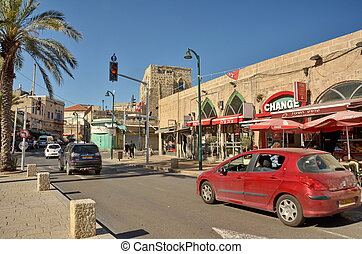 Steet in the old city of Jaffa - JAFFA, ISRAEL - APR 11,...
