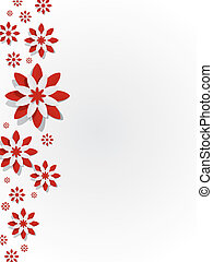 Decorative Red Flowers - Creative Abstract Decorative Red...