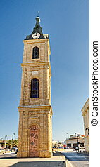 The famous Jaffa Clock Tower
