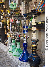 Hookahs at the Jaffa Flea Market - Hookahs at the Jaffa, Tel...