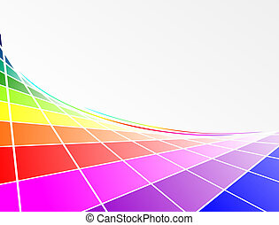 color circle - abstract background element with lines and...