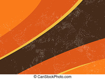 Retro wallpaper background 70s 80s - Grunge orange brown...