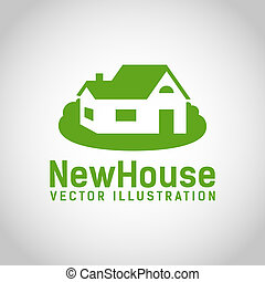 Real Estate House logo design template, Realty theme icon,...