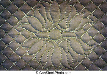 Quilted fabric - Background quilted fabric