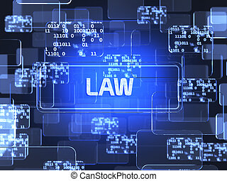 Law screen concept - Future technology touchscreen interface...