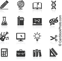 Education Icons set 1 Vector Illustration More icons in my...