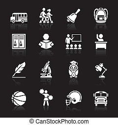 Education Icons set 3 Vector Illustration More icons in my...