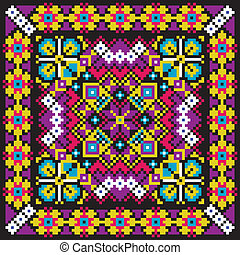 Ethnic ukrainian mosaic pattern Vector editable illustration...