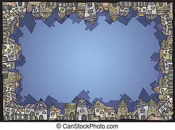 Cartoon vector construction isolated town border - Fairy...