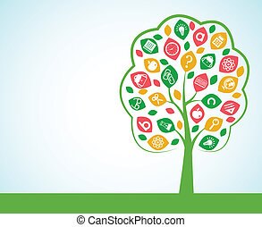 Tree of knowledge concept