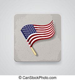 USA flag, vector icon - USA flag Vector illustration, EPS10,...