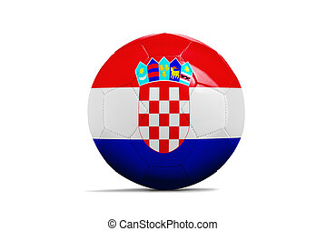 Soccer balls with teams flags, Football Brazil 2014 Group A,...