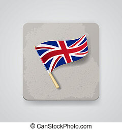 Great Britain flag, vector icon