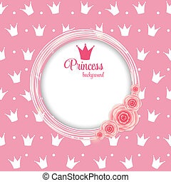 Princess Crown Background Vector Illustration - Princess...