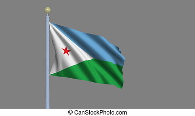 Flag of Djibouti with alpha matte
