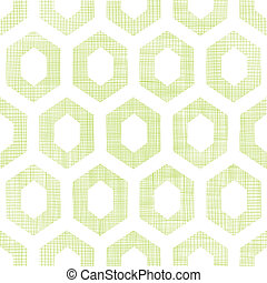 Abstract green fabric textured honeycomb cutout seamless...