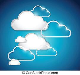 clouds set illustration design