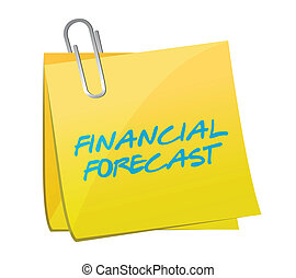 financial forecast post message illustration