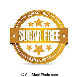 sugar free seal illustration design over a white background