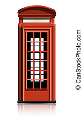 phone booth - london phone booth. vector illustration....