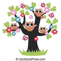 owls family tree together
