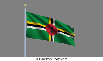 Flag of Dominica with alpha matte