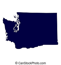 map of the US state of Washington