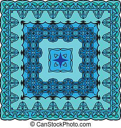 Squared background - ornamental floral pattern. Design for...