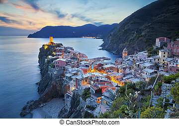 Vernazza. - Image of Vernazza (Cinque Terre, Italy), during...
