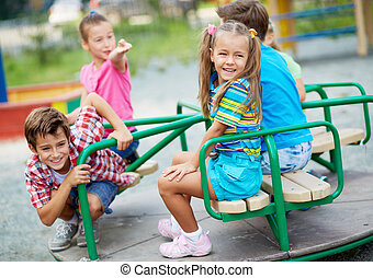 Happy friends - Image of joyful friends having fun on...