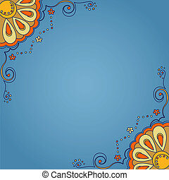 Background with ornamental pattern and space for your text....