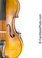 music string instrument violin isolated on white